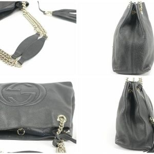 Gucci Bags - Gucci Leather Soho Chain Tote 19GK1220